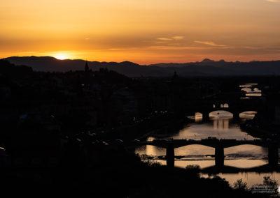 Vista Arno dalla Torre di San Niccolò