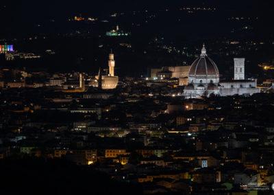 Panorama Firenze di notte da Fiesole