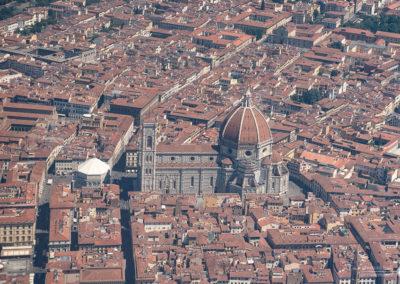 Firenze piazza duomo vista aerea